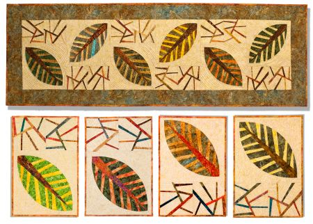 """Falling Leaves"" Table Runner and Placemats"