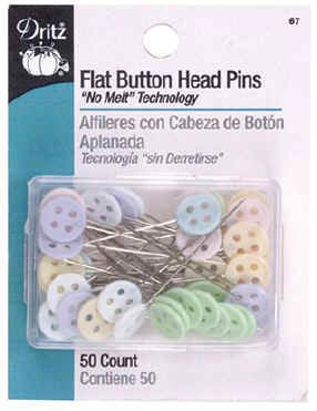 Flat Button Head Pins - Qty. 50